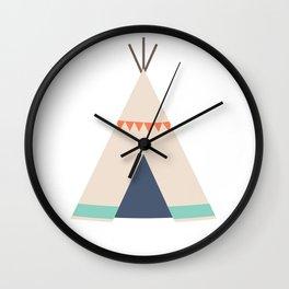 Cream Tipi Wall Clock