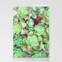 succulents Stationery Cards featuring Succulents  by Lisa Argyropoulos