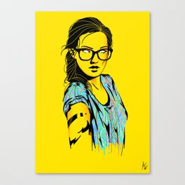 Glasses & A splash of color Canvas Print