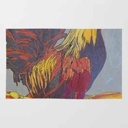 1981 Year of the Rooster Rug
