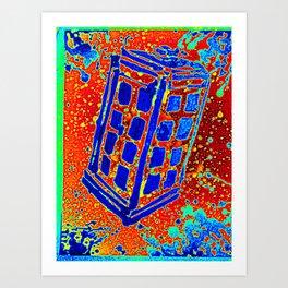 Retro Call Box III Art Print