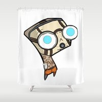 borderlands Shower Curtains featuring Borderlands Bandit GIR by Diffro
