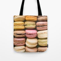 macaron Tote Bags featuring Macarons I by SouvenirPhotography