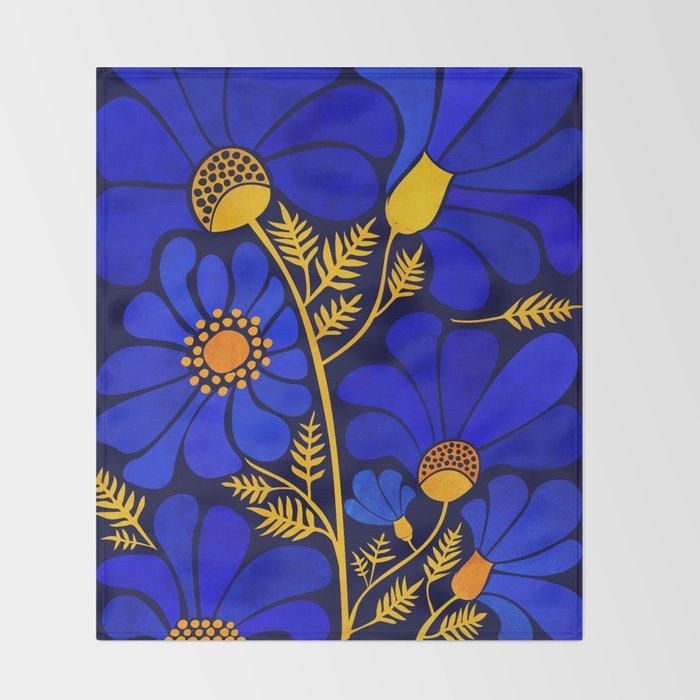 Wildflower Garden Throw Blanket