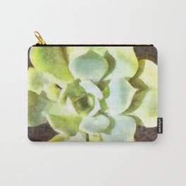 Succulent Garden Plant With Dew Carry-All Pouch
