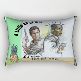 """""""A Little bit of this & a Whole Lot of That"""" - Psych Quotes Rectangular Pillow"""