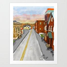 Mainstreet Brunswick, MD Art Print