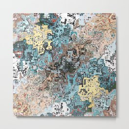 Colorful Abstract Chaos Metal Print