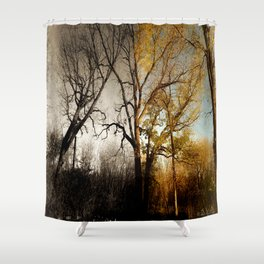 One Sided Shower Curtain
