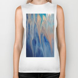 Sands of Time - Abstract Acrylic Art by Fluid Nature Biker Tank