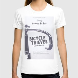 Bicycle Thieves - Movie Poster for De Sica's masterpiece. Neorealism film, fine art print. T-shirt