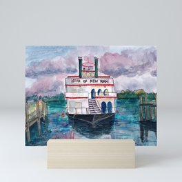 """Star of New York"" in Sheepshead Bay Brooklyn Mini Art Print"