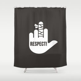 Respect Shower Curtain