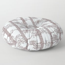 Pine Forest (Light Blue and Sepia) Floor Pillow