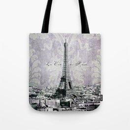 romantic Paris violet Tote Bag
