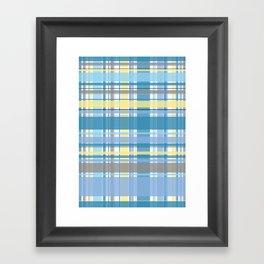 Blue and Yellow Tartan Framed Art Print