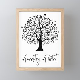 Ancestry Addict Framed Mini Art Print