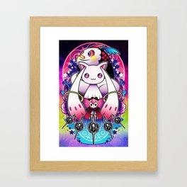Kyubey and Charlotte Framed Art Print