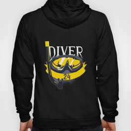 24th Birthday Scuba Diving 24 Years Diver Gift Hoody