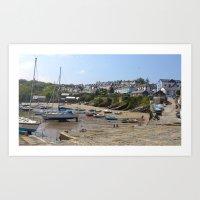 Welsh Harbour Art Print