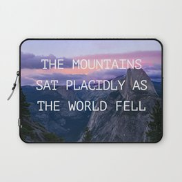 The mountains sat placidly Laptop Sleeve
