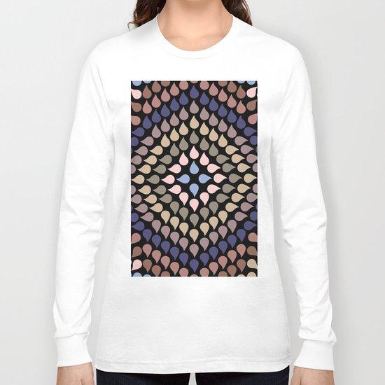 Seamless Colorful Raindrops V Long Sleeve T-shirt