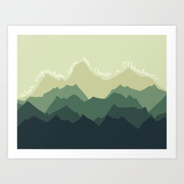 Inspirational Mountain Art Print