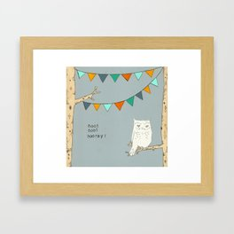 Hoot Hoot Hooray Framed Art Print