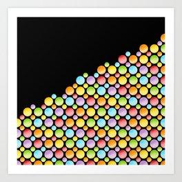 Rainbow Polka Dots Horizon Art Print