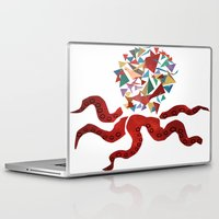 octopus Laptop & iPad Skins featuring octopus by March Hunger