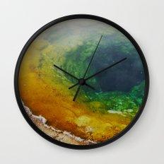 Morning Glory Pool Wall Clock