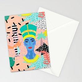 Postmodern Nefertiti Stationery Cards