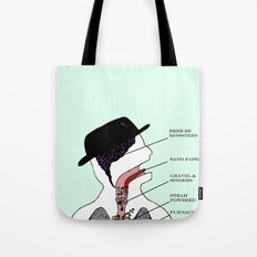 VISIBLE TOM WAITS Tote Bag