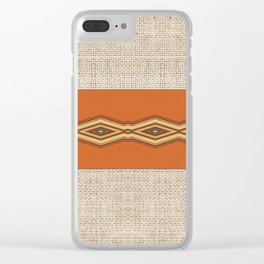Southwestern Earth Tone Texture Design Clear iPhone Case