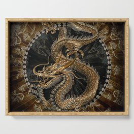 Dragon Pentagram Serving Tray