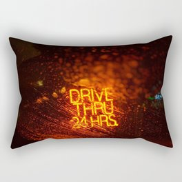 Drive Thru 24 Hrs (Color) Rectangular Pillow