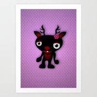 minnie Art Prints featuring Minnie by Karen Strempel