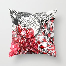 Hermotherseyes Collage Throw Pillow