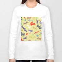 dogs Long Sleeve T-shirts featuring Dogs by Amy Schimler-Safford