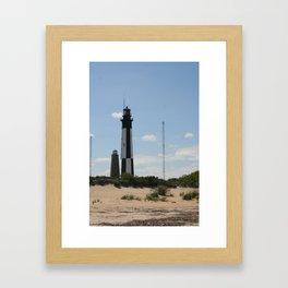 Short And Tall Cape Henry Lights Framed Art Print