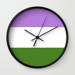 Genderqueer Pride Flag Wall Clock