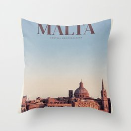 Visit Malta Throw Pillow