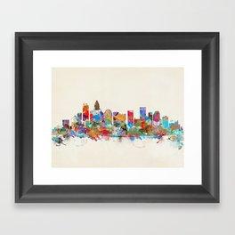 Charlotte North Carolina skyline Framed Art Print