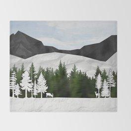 Forest Scene Throw Blanket