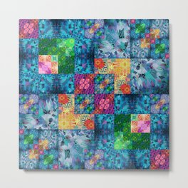 High Definition Geometric Quilt 1 Metal Print
