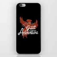 dumbledore iPhone & iPod Skins featuring Great Adventure by WEAREYAWN