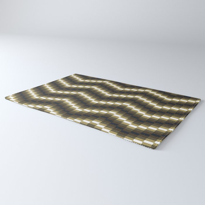 Block Wave Illustration Artwork Rug