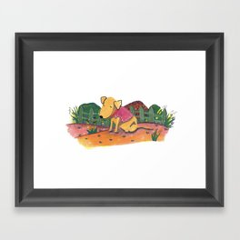 Little Bread ready to work Framed Art Print
