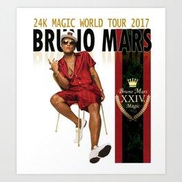 BRUNOMARS 24K MAGIC WORLD TOUR 2017 Art Print