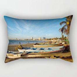 Mazatlan Beach & Boats Rectangular Pillow